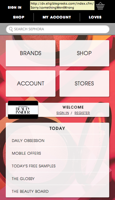 Sephora Mobile Website