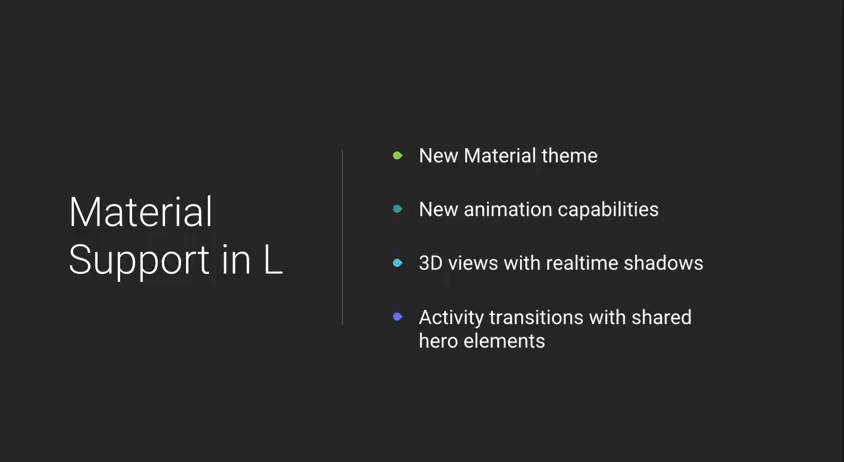 Material Support in L