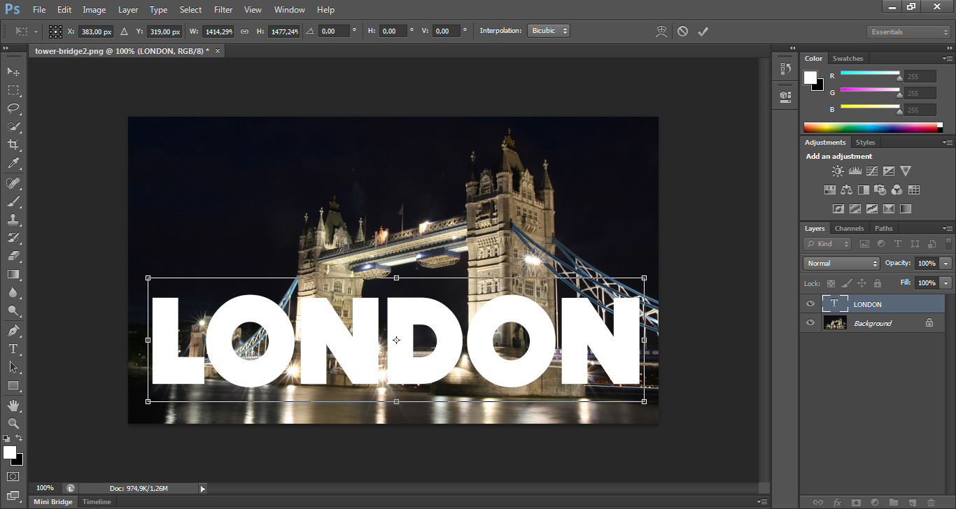 This image represents a view of the Tower Bridge with the word London on it