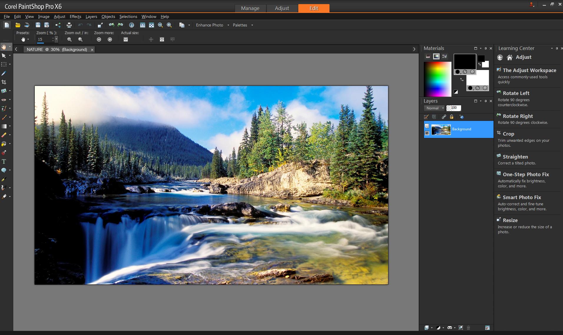PaintShopPro interface