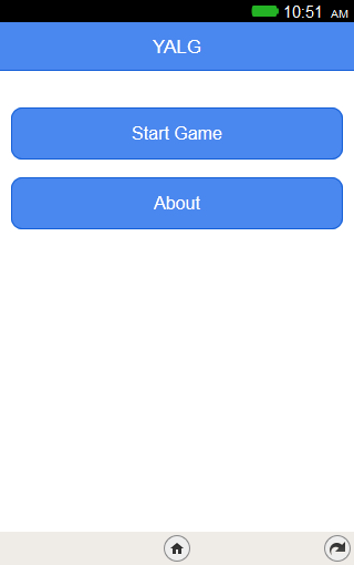 App running with buttons