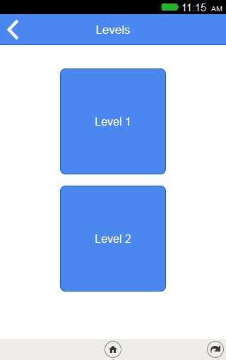 Levels running in app