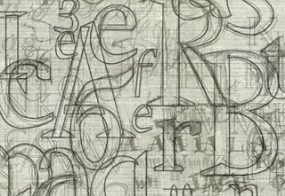 Sketches of lettering