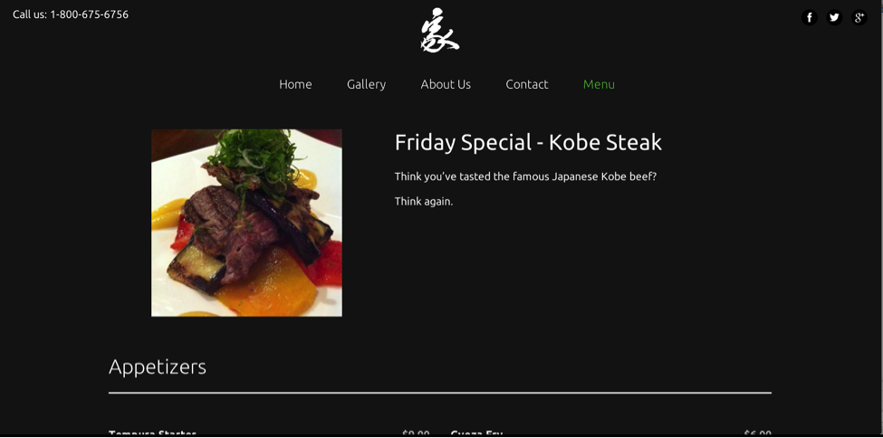 Friday special: Steak