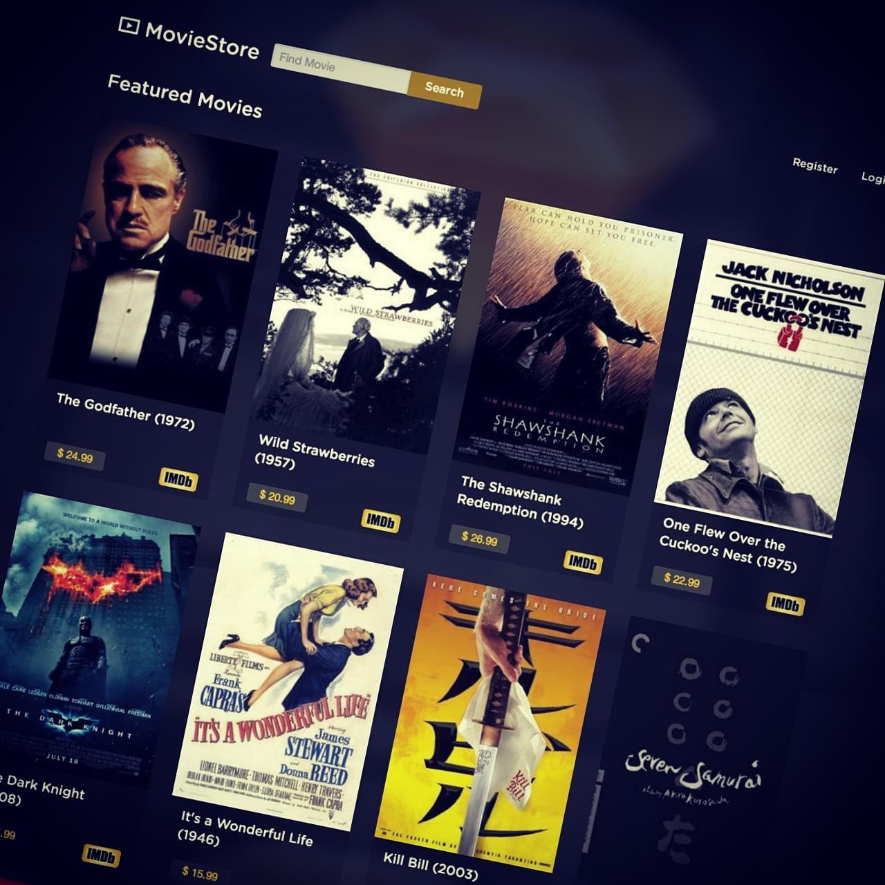 Final movie store screenshot