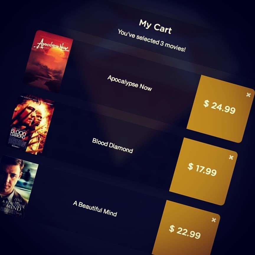 You've selected 3 movies screenshot