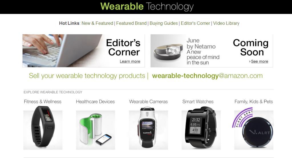 Amazon's Wearable store