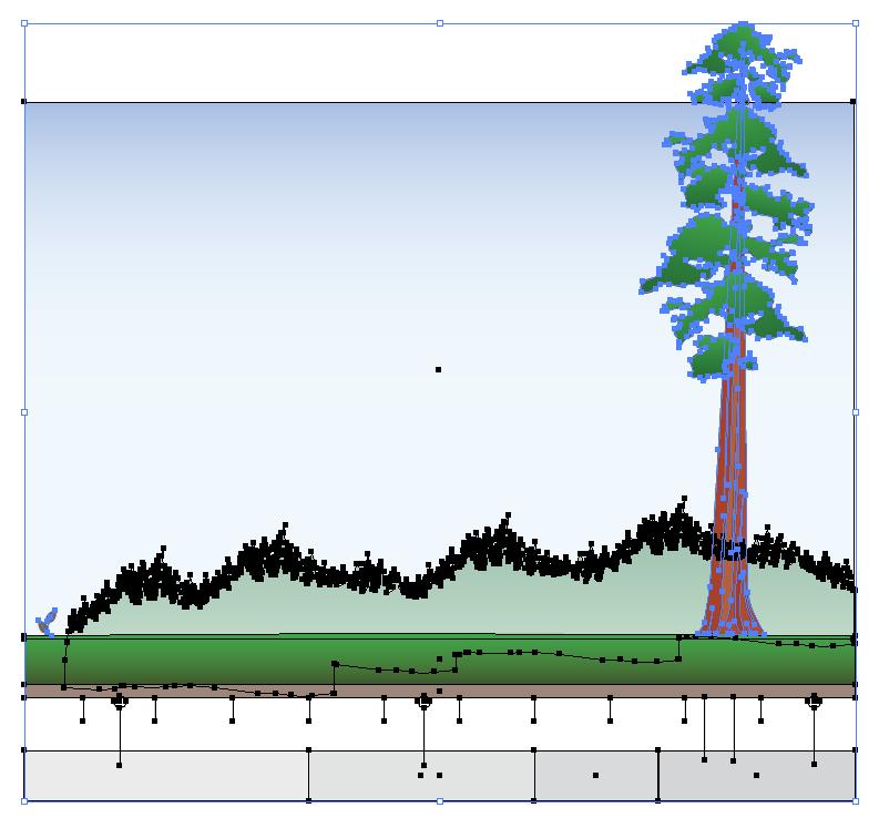 Figure 4: The vector artwork selected in Illustrator