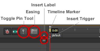 Figure 9: The Timeline panel tools