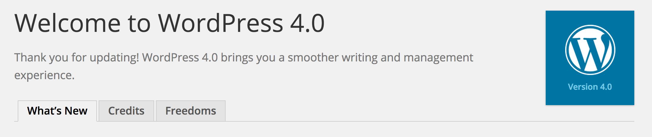 WordPress 4.0 Release