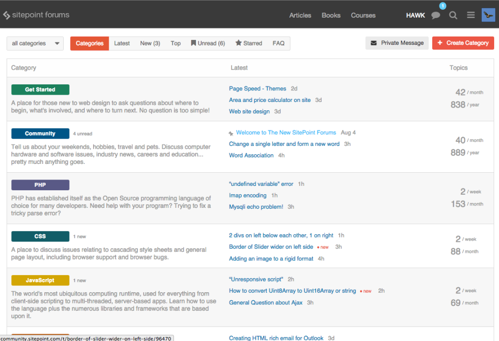 The New SitePoint forums
