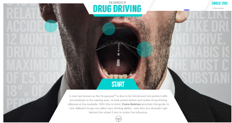 Interactive Guide to the Effects of Drugs on Driving