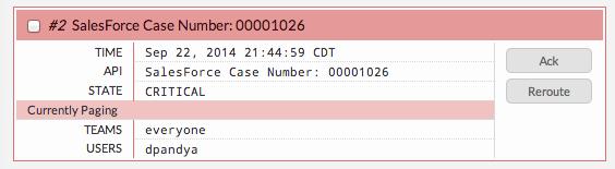 Case Result in VictorOps