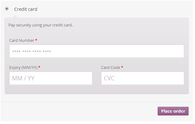 Default Credit Card Form