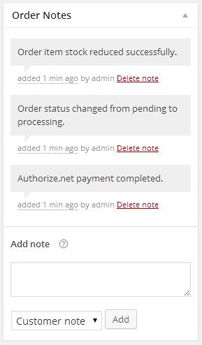 Success Order Notes