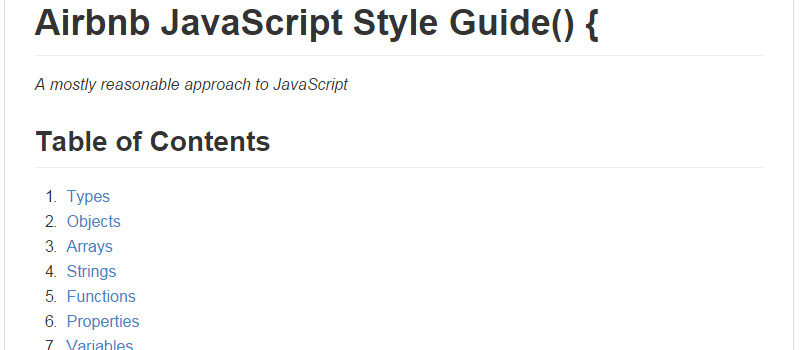 Airbnb JavaScript Style Guide