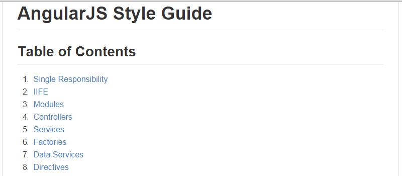 AngularJS Style Guide