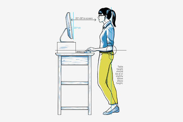 A Standing Desk. Source: Wired.com