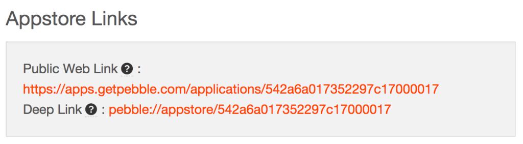 Appstore links