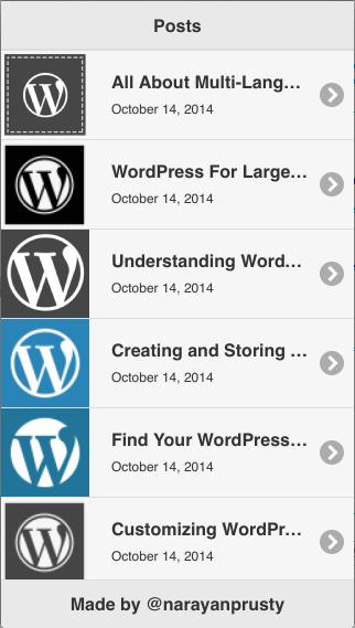 PhoneGap using WordPress 2