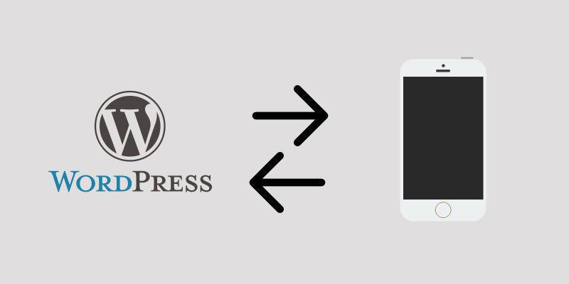PhoneGap using WordPress