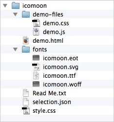 The font folder