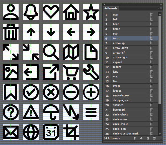 The completed icons file