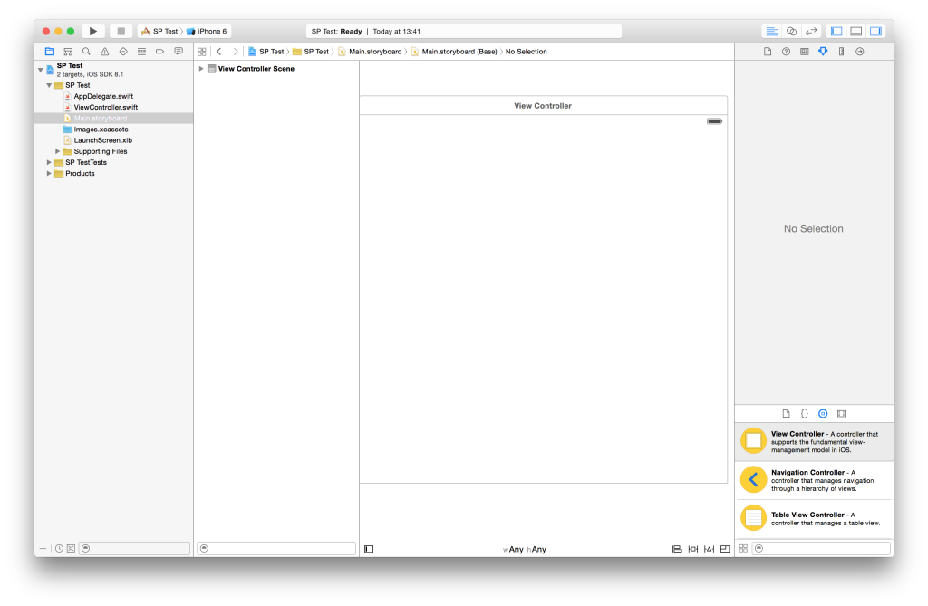 XCode Screen Overview
