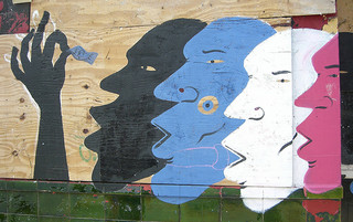 Artworks: 4 faces in different colors.