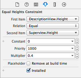 Edit constraint