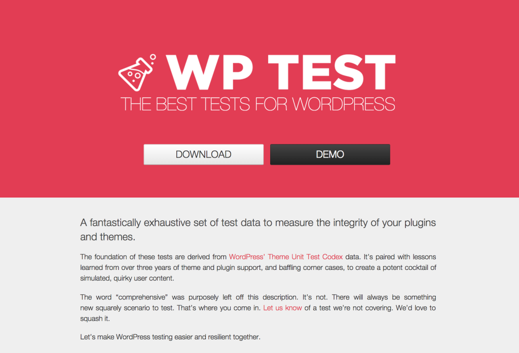 WP Test Homepage