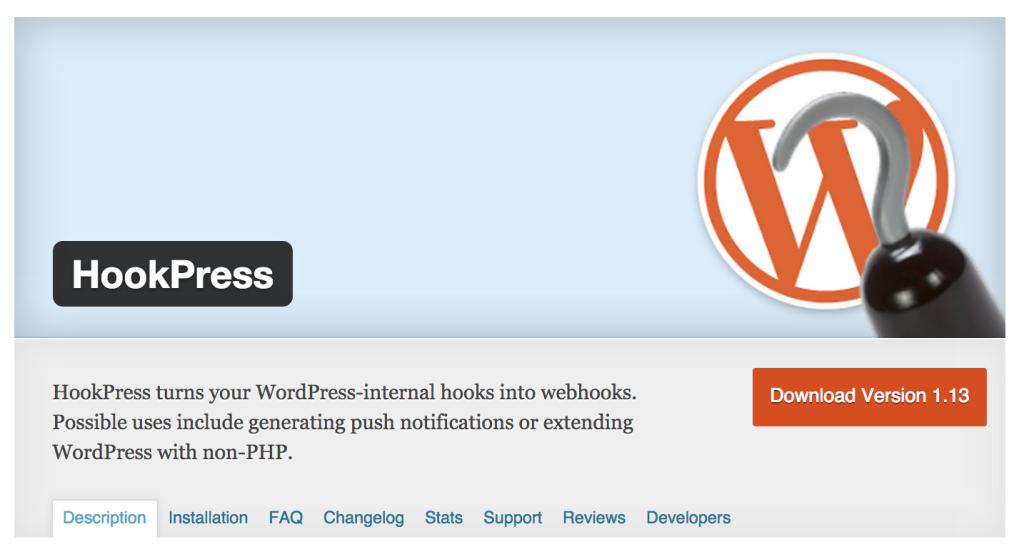 HookPress WordPress Plugin