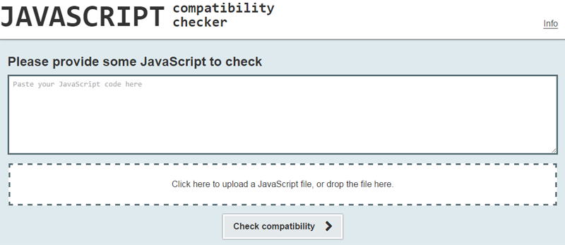 JavaScript Compatibility Checker