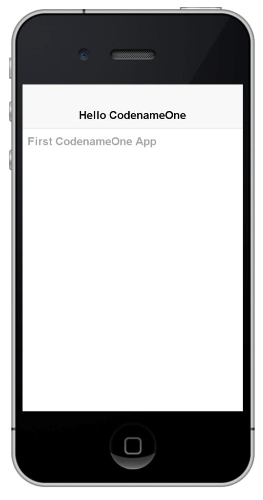 Application running in emulator