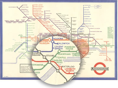 Beck's London Underground map - 1931