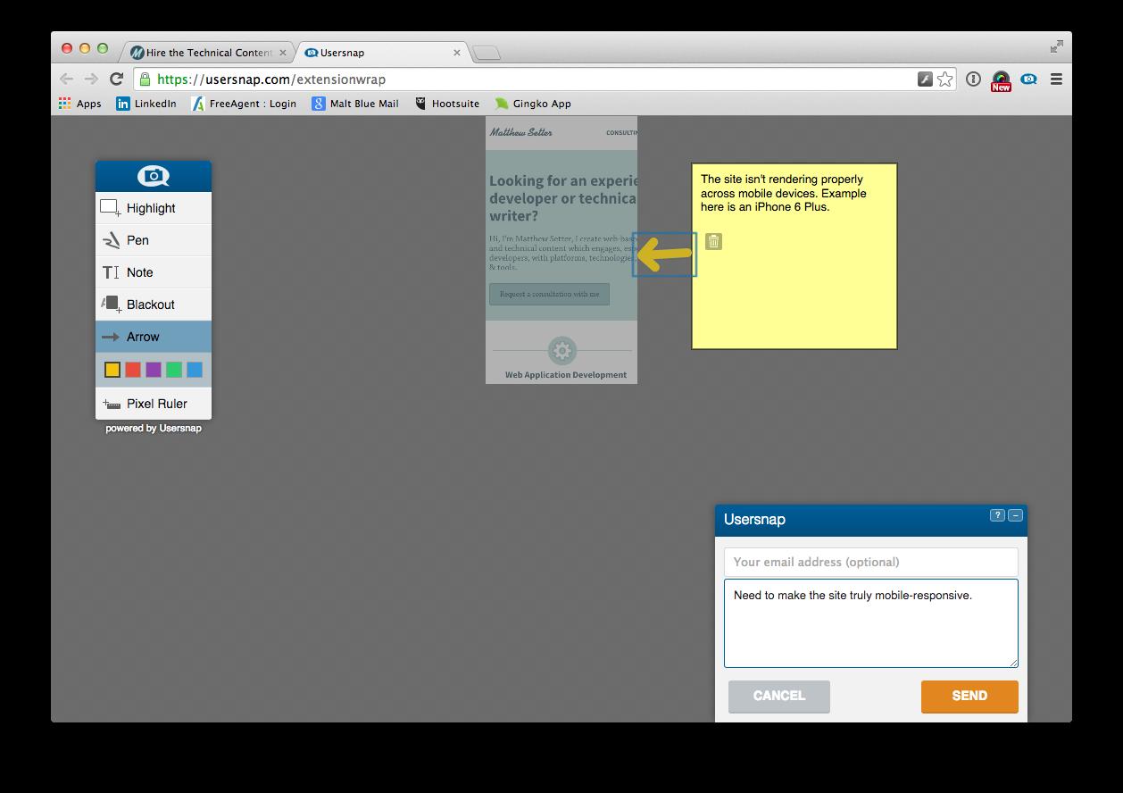 usersnap annotate responsive screenshot