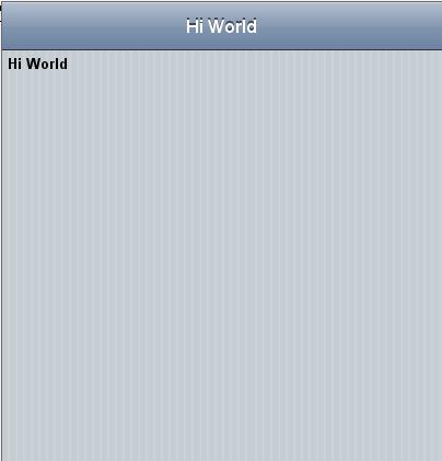 App Overview Screen