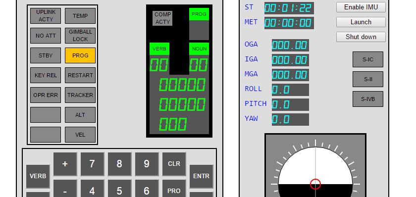 Apollo guidance computer simulator