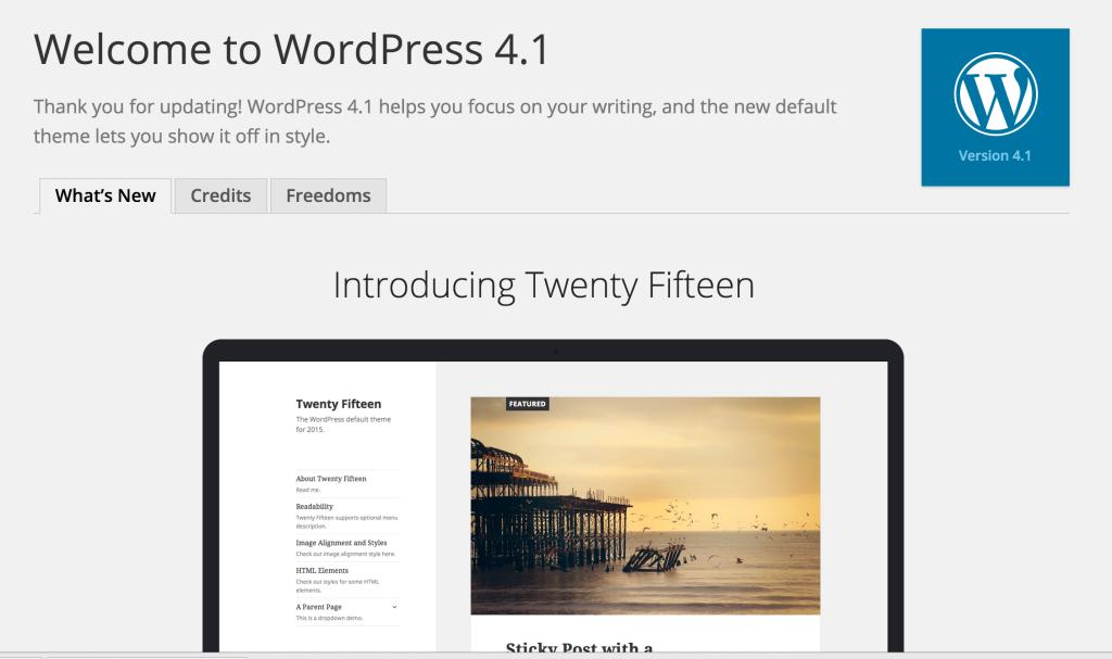WordPress 4.1 What's New