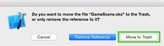 Delete GameScene.sks