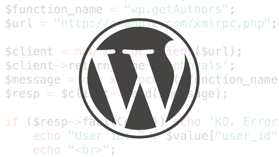 XML-RPC for WordPress