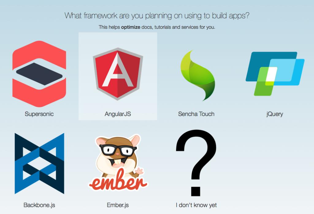 AppGyver framework selection