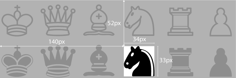 Viewbox coords for Black horse
