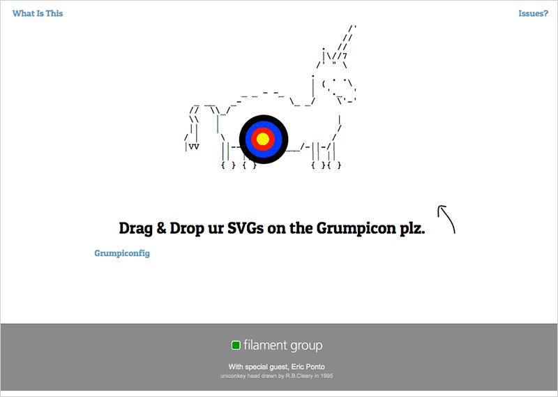 Grumpicon web app