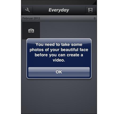 iOS Dialog for Everday app