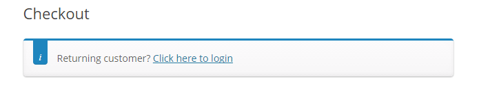 WooCommerce checkout login message