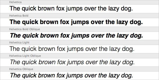 Helvetica Example