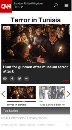 CNN's mobile view
