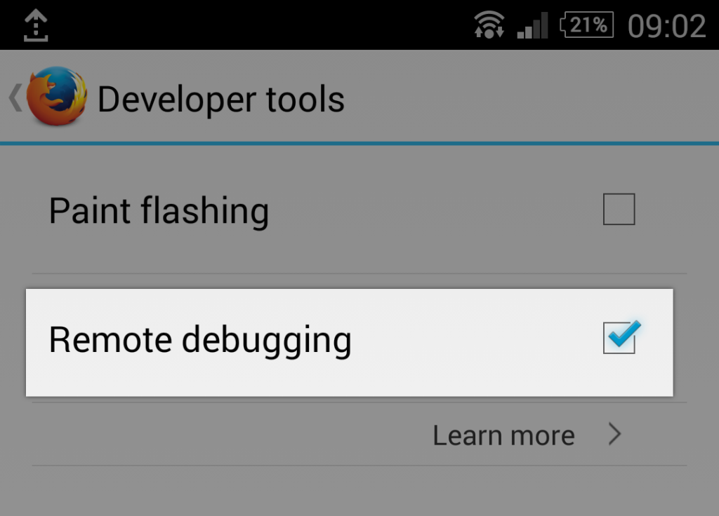 Enable remote debugging on Android