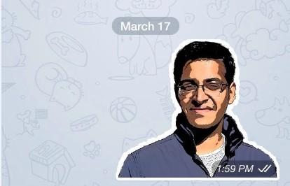 Sticker in Telegram